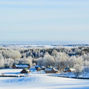 FJ1360 | Kirjeldus: Setomaa Turismitalo karges talves| Autor: Kaisa Äärmaa
