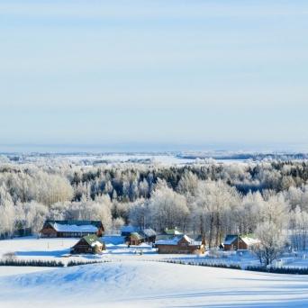 FJ1360 | Kirjeldus: Setomaa Turismitalo karges talves | Autor: Kaisa Äärmaa