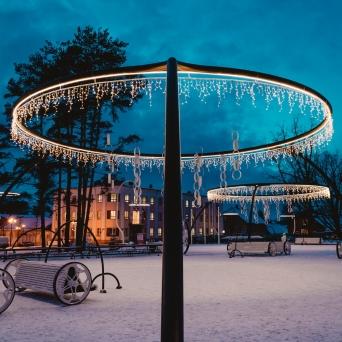 FJ1383 | Kirjeldus:  Jõuluõhtu keskpargis| Autor: Robi Zuts